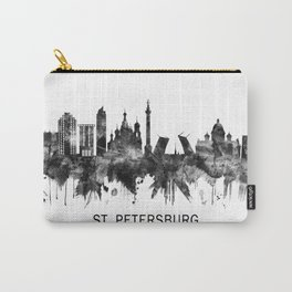 St. Petersburg Russia Skyline BW Carry-All Pouch