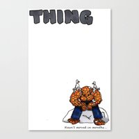 the thing Canvas Prints featuring Thing by ToppArt