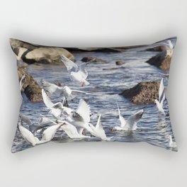 seagull flying at sea Rectangular Pillow