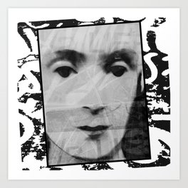 Visage Series: Untitled Face, Version 1 Art Print