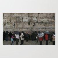 palestine Area & Throw Rugs featuring Jerusalem Palestine by Sanchez Grande