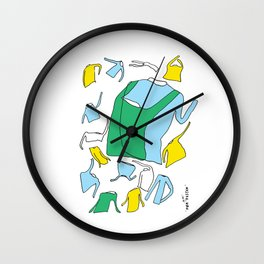 Before and after the party Wall Clock