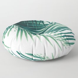 Palm Leaves Green Vibes #4 #tropical #decor #art #society6 Floor Pillow