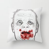 silence of the lambs Throw Pillows featuring Ready when you are, Sergeant Pembry. // Silence of the Lambs by boy Roland