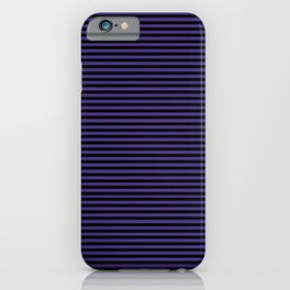 Gothic purple stripes iPhone Case