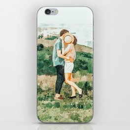 Togetherness #painting iPhone Skin
