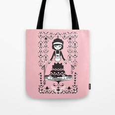 Lady Cake Tote Bag