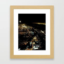 """Los Angeles Bird's Eye"" (2013) Framed Art Print"