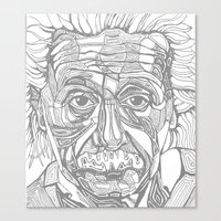einstein Canvas Prints featuring Einstein  by Jess Moore