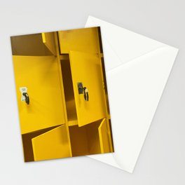 Yellow lockers Stationery Cards