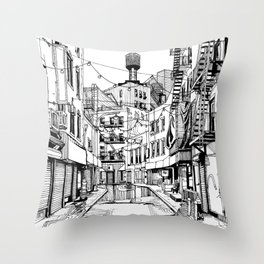 Concrete Jungle (BW) Throw Pillow