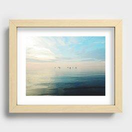 Freshwater Beach Meeting Recessed Framed Print