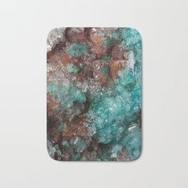 Dark Rust & Teal Quartz Bath Mat