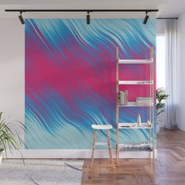 Stripes Wave Pattern 10 bpi Wall Mural