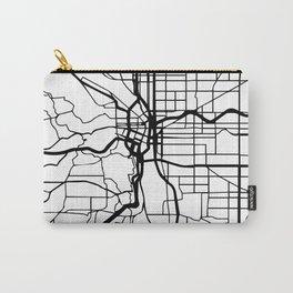 PORTLAND OREGON BLACK CITY STREET MAP ART Carry-All Pouch