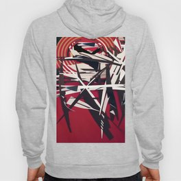 The Target- Red, Black and White Modern Abstract Hoody