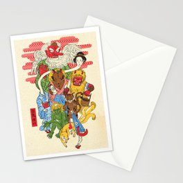 Monster Parade Stationery Cards