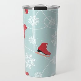 Winter Ice Skating Travel Mug