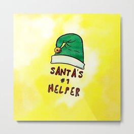 Santa's #1 helper Metal Print