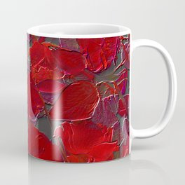 Red Roses on Grey Coffee Mug
