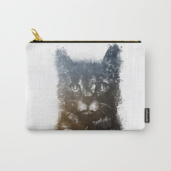 Gray cat Lucky Carry-All Pouch
