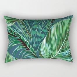 Blue and Green Rectangular Pillow