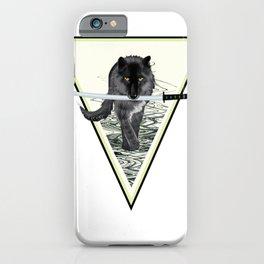 Wolf and katana iPhone Case