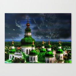 Domes of Trinity Cathedral, Chernigov, Ukraine Canvas Print