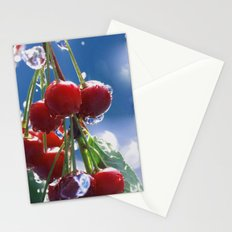 Summer rain on cherries Stationery Cards