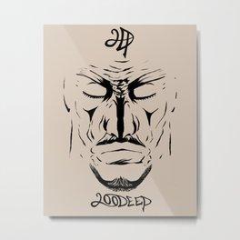 Ninja Face Metal Print