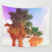 palms Wall Tapestries featuring Palms by Neon Wildlife