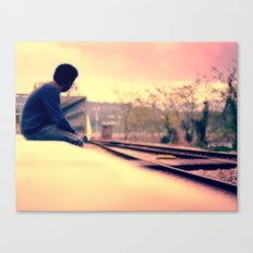 Waiting for the train to Wonderland Canvas Print