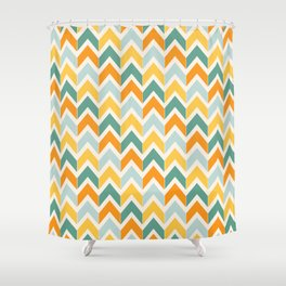 Citrus Chevron Shower Curtain