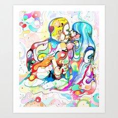 Kiss Like Lovers Do Art Print