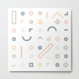 Pasteli Lineas Metal Print