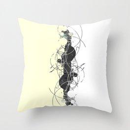 Minimalist geometrical two toned Pattern Throw Pillow