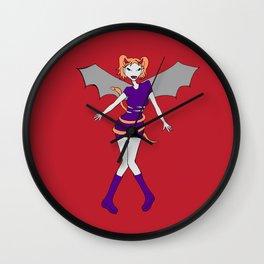 Halloween 'Bat' Fairy  Wall Clock