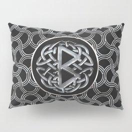 Berkana Rune  Mettallic Embossed Pillow Sham