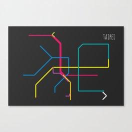 taipei metro map Canvas Print