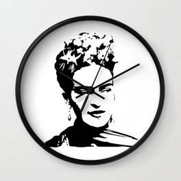 CHRISTMAS WITH A PORTRAIT OF AN ICONIC SURREALIST FOR YOU FROM MONOFACES IN 2020 Wall Clock