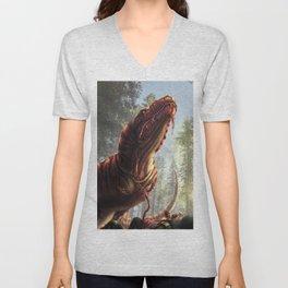 Tyrannosaurus Meal Unisex V-Neck