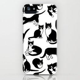 Tuxedo Cats iPhone Case