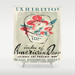 Vintage poster - Index of American Design Shower Curtain
