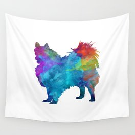Pomeranian in watercolor Wall Tapestry