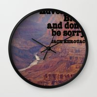 kerouac Wall Clocks featuring Kerouac by muffa