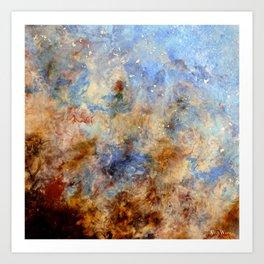 Gentle Shores - Original Abstract Art by Vinn Wong Art Print