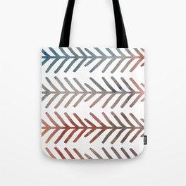 This Way Up, Rainbow Fishbone Pattern Tote Bag