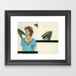 V-Necks & Their Shady Depths Framed Art Print