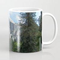 yosemite Mugs featuring Yosemite by Angela McCall