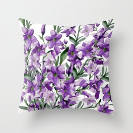 Lilac. Watercolor Throw Pillow